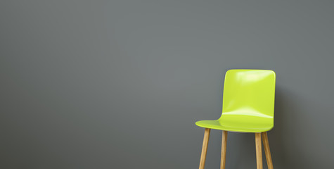 chair in a waiting room of a office, with copy space for individual text  Fototapete