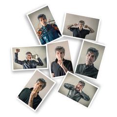 cartoline con espressioni maschili