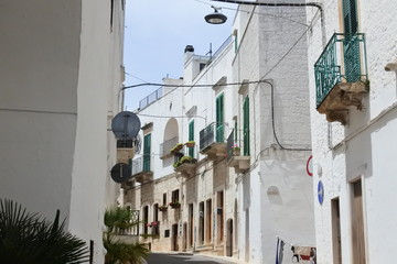 the city view in Locorotondo, Puglia, Italy