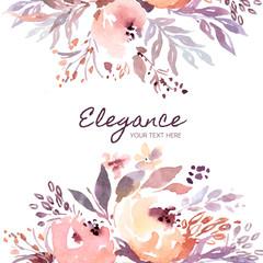 Elegant floral background template