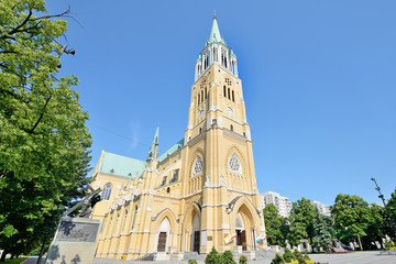 Łódź, Polska- Bazylika archikatedralna.