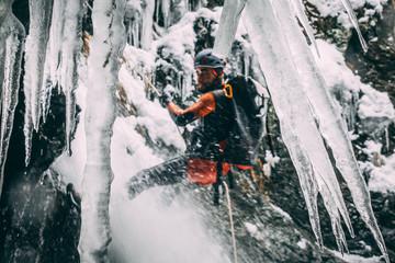 Canyoning glace