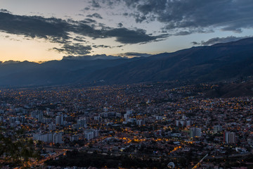 Sunset over Cochabamba, Bolivia