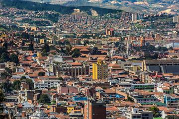 la candelaria Bogota Skyline cityscape  capital city of Colombia South America