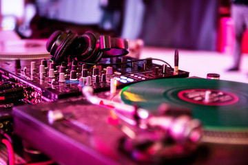 DJ equipment at the party