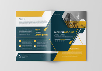 Cover Layout with Yellow and Gray Accents