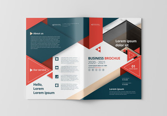 Cover Layout with Red and Gray Accents