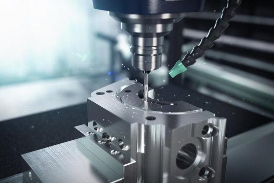 3D-Illustration Fräskopf Metalverarbeitung