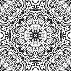 Unique, abstract floral color pattern. Seamless vector illustration. For design, wallpaper, background, print