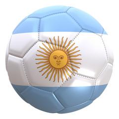 Argentina flag on a football ball
