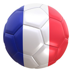 France flag on a football ball