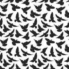Pigeon silhouette pattern