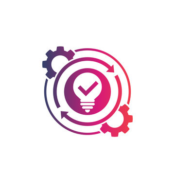 creativity, creative process icon on white