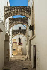 The crooked streets of Locorotondo in Puglia.