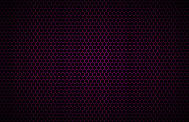 Purple geometric polygons background, abstract black metallic wallpaper, hexagonal pattern, vector illustration