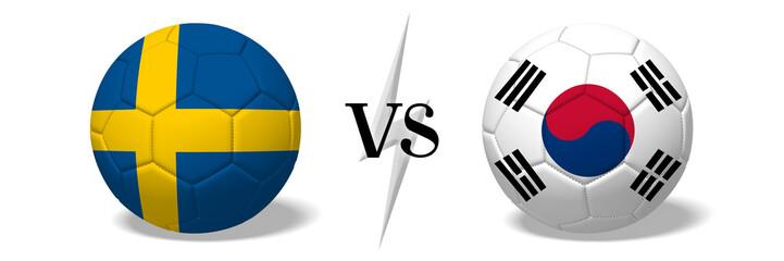 Soccer championship - Sweden vs South Korea