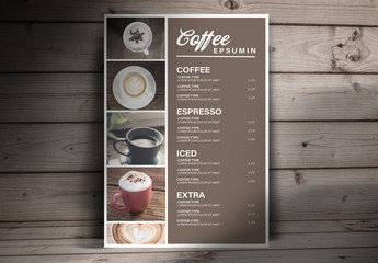 Coffee Menu Layout
