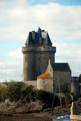 View on Solidor Tower (Tour Solidor)  in Saint-Malo, Bruttany, France