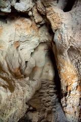 Entrance of the Reef cave (Rifovaya cave), Don river, Volgograd region, Russia
