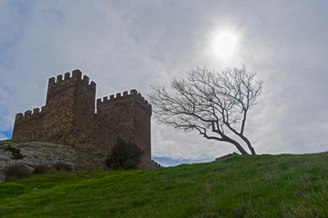 Citadel  in Genoese fortress in Sudak, Crimea.