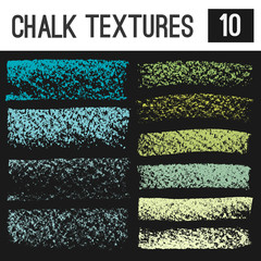 Wide strokes of chalk textures. Grunge elements for your design.
