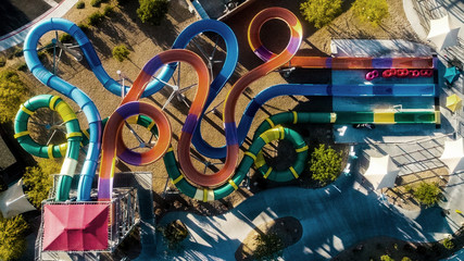 Amusement park from above