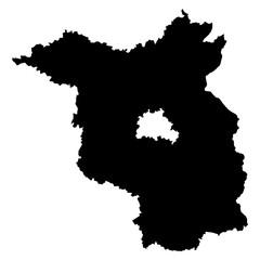 Brandenburg black map on white background vector