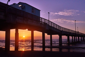 Sunrise/sunset pier
