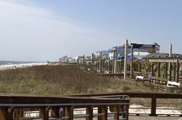 Carolina Beach Boardwalk Ocean View