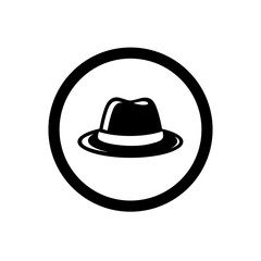 101ccecd Hexagonal Incognito Icon, Hacker Logo Design, Man With Fedora Hat ...