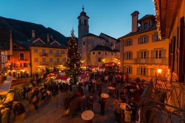 Mercatino di Natale di Santa Maria Maggiore, Valle Vigezzo, Verbania, Piemonte, Italia