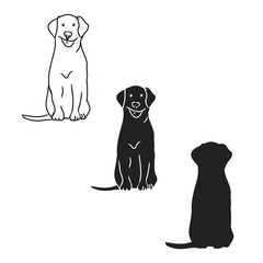 Graphic image of a dog on a white background