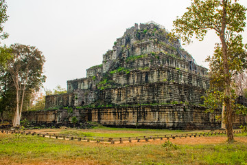 Pyramid of ancient complex Koh Ker, Cambodia