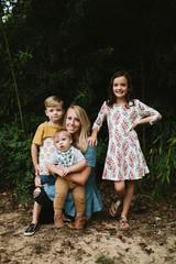 mom and three children