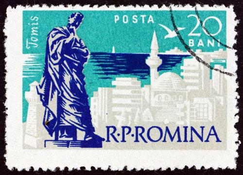 Postage stamp Romania 1960 Ovid Statue at Constanta