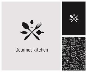 logo, restaurant, identité, enseigne, gastronomie, fruits de mer