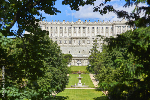 West Facade Of Royal Palace Of Madrid Palacio Real View From