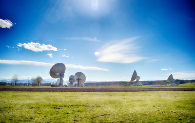Earth communication station in bavaria Europe