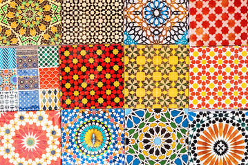 Moroccan colorful magnets looking like tiles