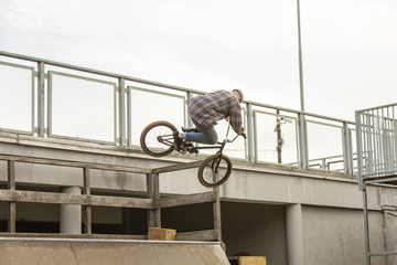 Man flying on BMX