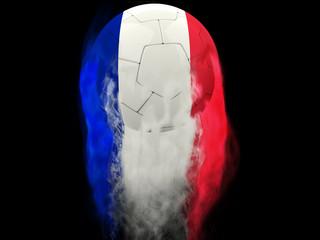 France football - smoke trails effect