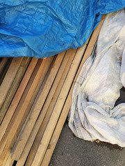 Construction material on the ground