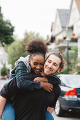 Portraits of a diverse couple in their early twenties