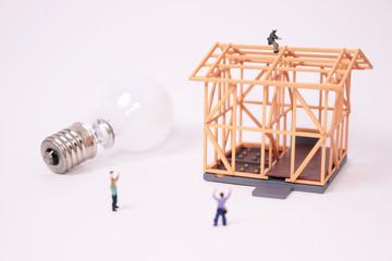 木造住宅の建築工事 電気 エネルギー 電球