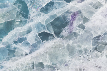 Fluorite mineral, closeup