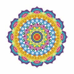 beautiful mandala, flower, floral ornament
