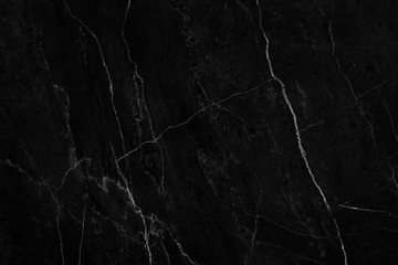 Black marble natural pattern for background, abstract natural marble black and white Wall mural