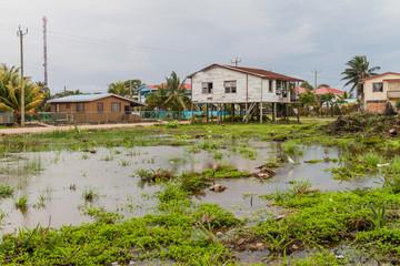 March area in Dangriga town, Belize