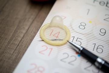 condom on the calendar