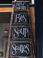 Chalk board sign for baking goods